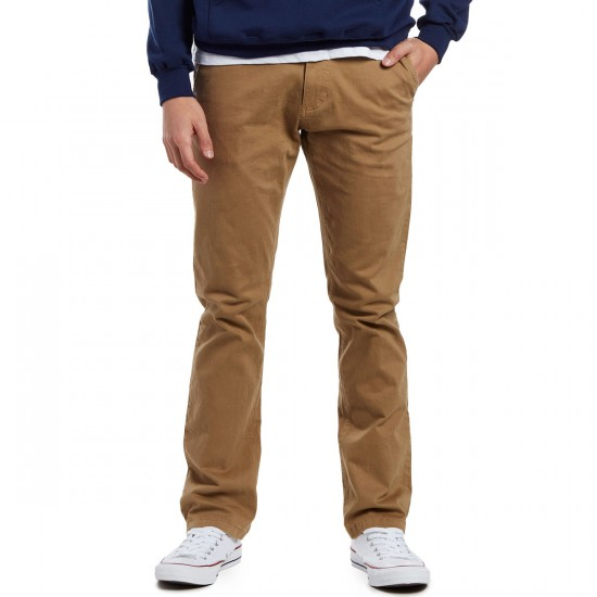 CCS Clipper Straight Fit Chino Pants - Khaki - 29 - 30