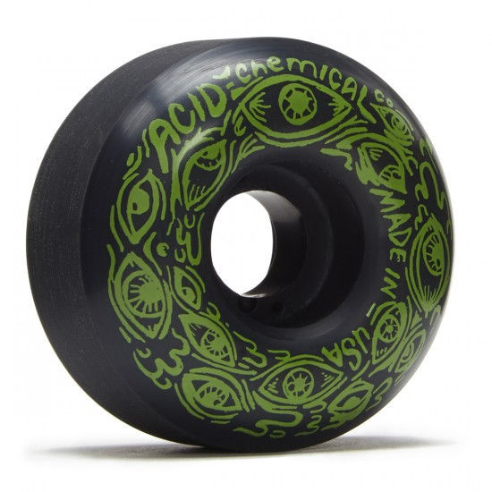 Acid Eyes Skateboard Wheels - Black - 54mm