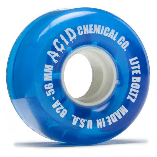 Acid Clean Machine Cruiser Skateboard Wheels - White/Blue - 56mm