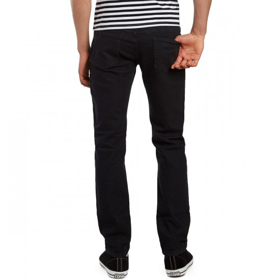 CCS Banks Slim Fit Jeans - Washed Black - 28 - 30