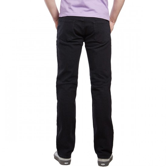 CCS Banks Slim Straight Fit Jeans - Washed Black - 40 - 34