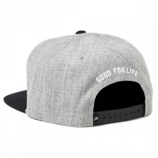 Primitive GFL Slabtype Snapback Hat - Heather Grey