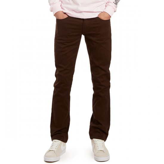 CCS Straight Fit 5 Pocket Twill Pants - Chocolate - 36 - 30