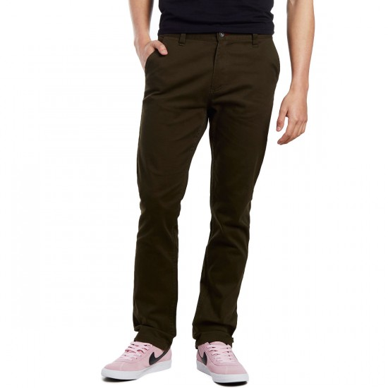 CCS Slim Fit Chino Pants - Dark Olive - 28 - 30