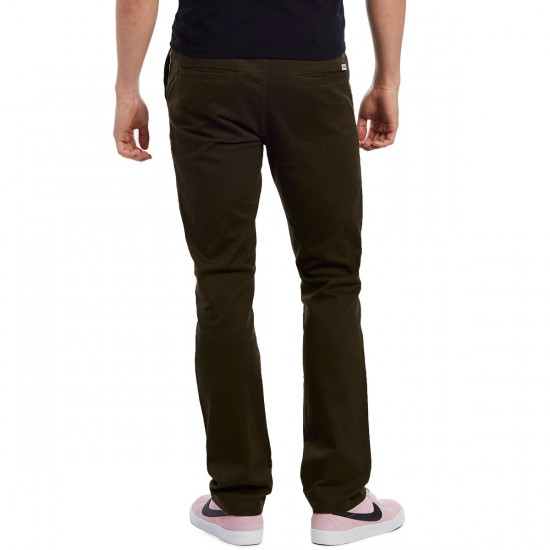 CCS Clipper Slim Fit Chino Pants - Dark Olive - 28 - 30