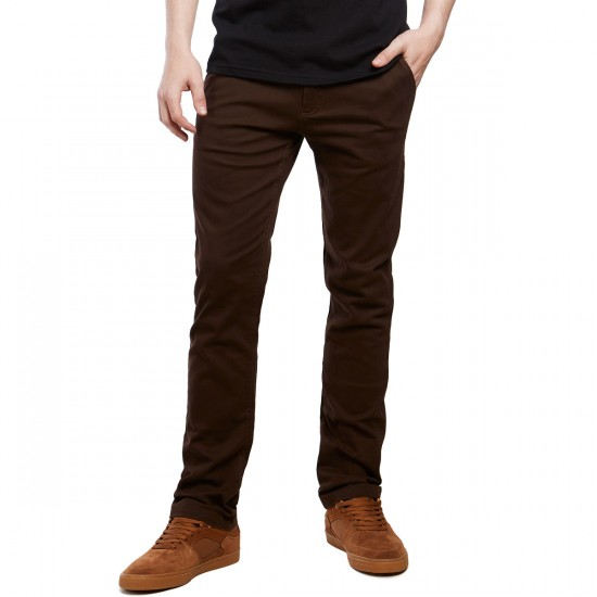 CCS Slim Fit Chino Pants - Chocolate - 38 - 32