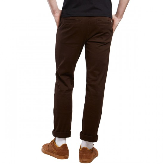 CCS Clipper Slim Fit Chino Pants - Chocolate - 38 - 32