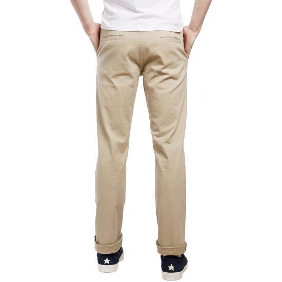 CCS Straight Fit Chino Pants - Light Khaki - 36 - 34