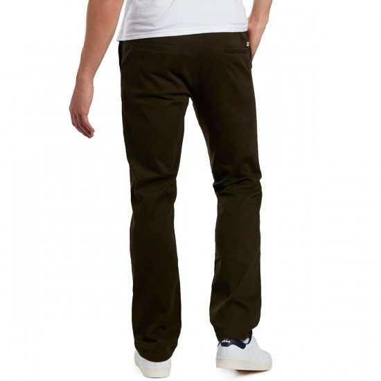 CCS Clipper Straight Fit Chino Pants - Dark Olive - 40 - 32