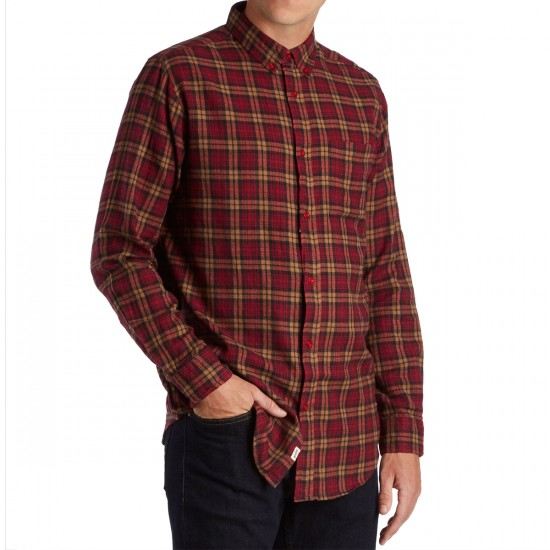 CCS Flannel Long Sleeve Shirt - Badlands Red Plaid