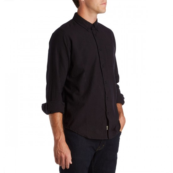 CCS Flannel Long Sleeve Shirt - Solid Black