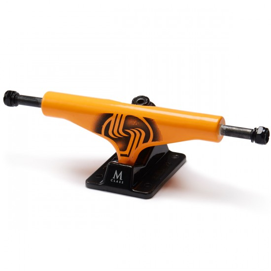 Silver M-Class Skateboard Trucks - Neon Orange