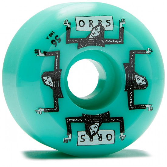Welcome Orbs Fantasmas Skateboard Wheels - Teal - 56mm 100A