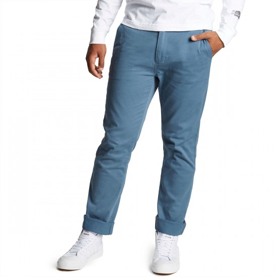 CCS Clipper Slim Fit Chino Pants - Steel Blue