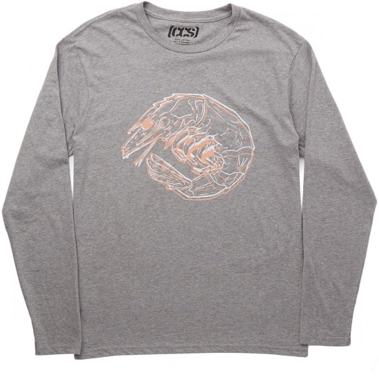 CCS 3D Shrimp Long Sleeve T-Shirt - Grey Heather