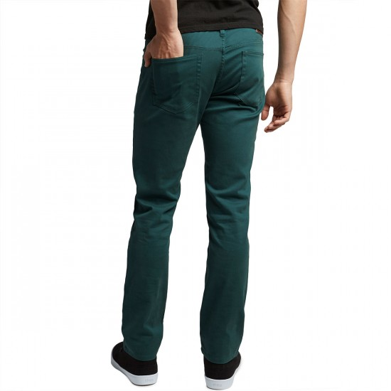 CCS Slim Fit 5 Pocket Twill Pants - Teal - 28 - 32