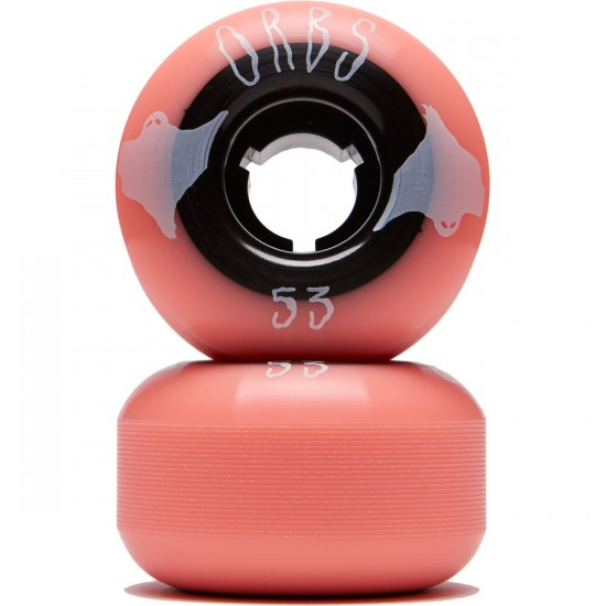 Welcome Orbs Poltergeists Skateboard Wheels - Coral/Black Core - 53mm 104A