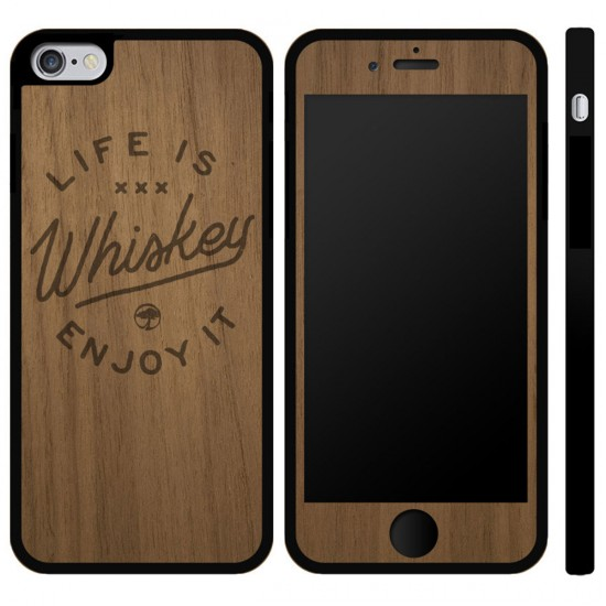 Arbor Collective Life Is Whiskey iPhone 6/6S Phone Case - Walnut