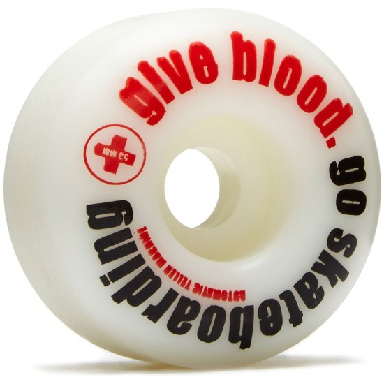 ATM Give Blood Skateboard Wheels - Red - 53mm