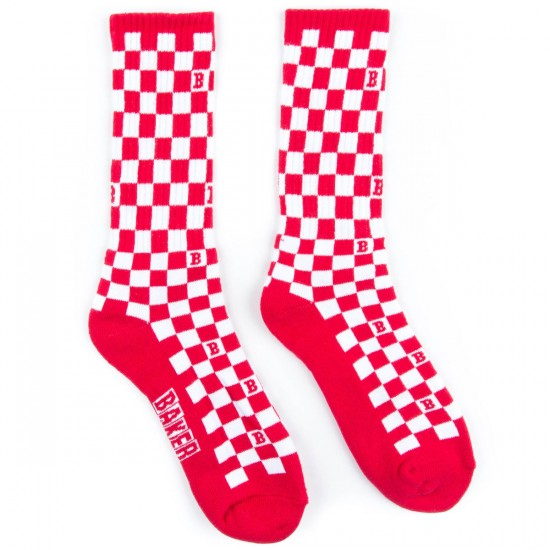 Baker Skateboards Flag Socks - Red/White