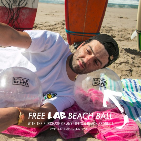 Lifes A Beach LAB Snake T-Shirt - Blue To Pink Fade