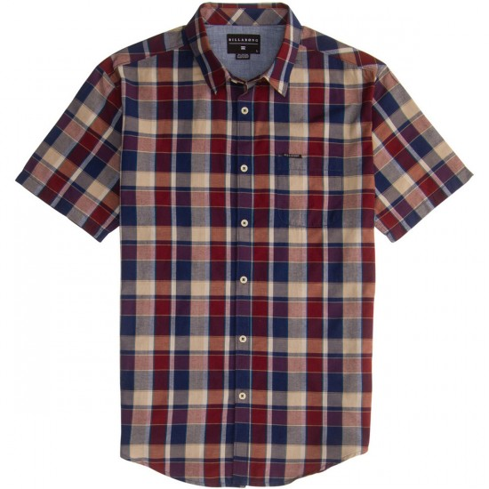 Billabong Avenue Short Sleeve Woven Shirt - Red