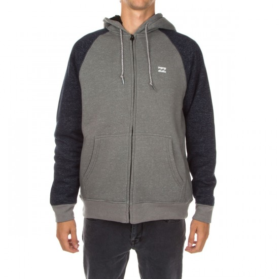 Billabong Balance Zip Sherpa Hoodie - Light Grey Heather