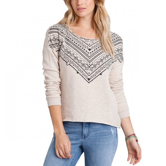 Billabong In the Sand Pullover Sweatshirt - Oatmeal Heather
