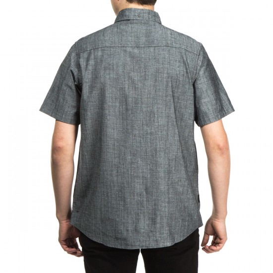 Bohnam Regent Short Sleeve Button Up Shirt - Dobby Chambray