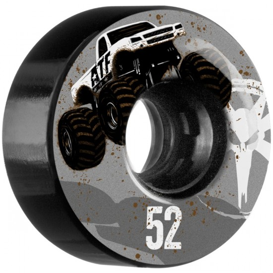 Bones ATF Mudder Fudder Skateboard Wheels - Black - 52mm