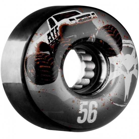 Bones ATF Mudder Fudder Skateboard Wheels - Black - 56mm
