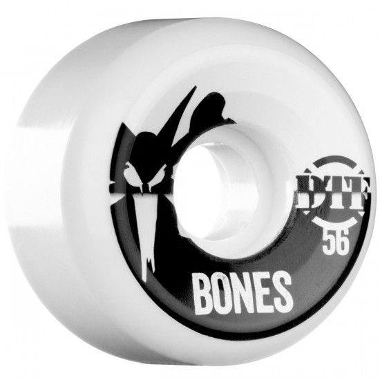 Bones DTF Shadow Skateboard Wheels 56mm 75b - White