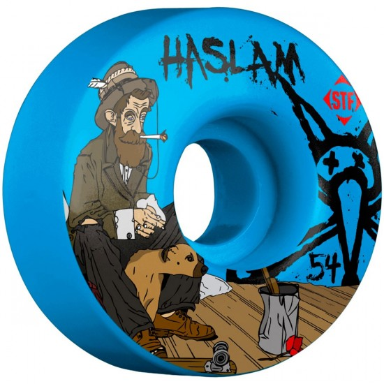 Bones STF Haslam Bohemian V3 Skateboard Wheels - Blue - 54mm