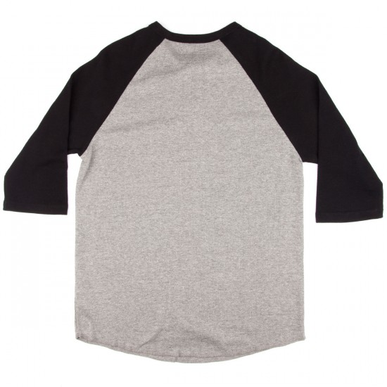 Brixton Barley 3/4 Sleeve T-Shirt - Heather Grey/Black