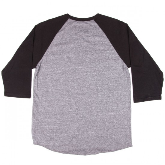 Brixton Borrego 3/4 Sleeve T-Shirt - Heather Grey/Black