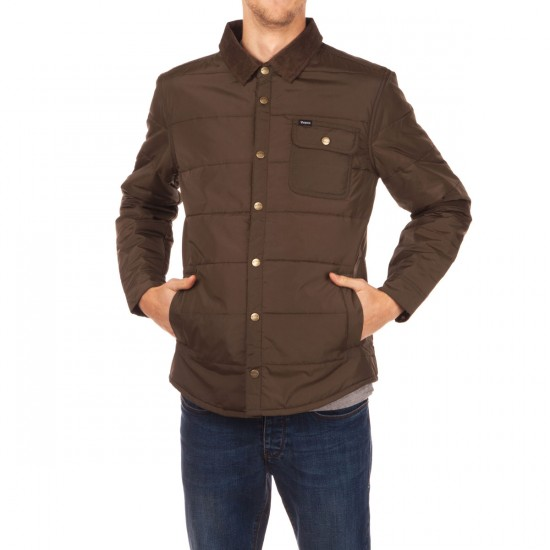 Brixton Cass Jacket - Olive/Brown