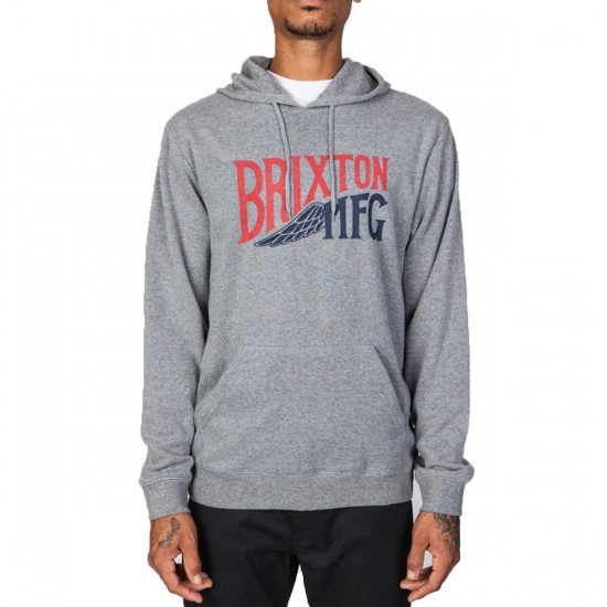 Brixton Coventry Hooded Sweatshirt - Heather Grey