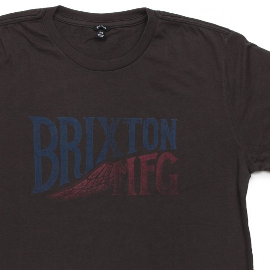 Brixton Coventry Premium T-Shirt - Washed Black/Blue