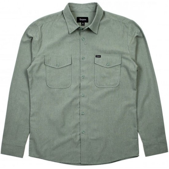 Brixton Davis Long Sleeve Shirt - Sage