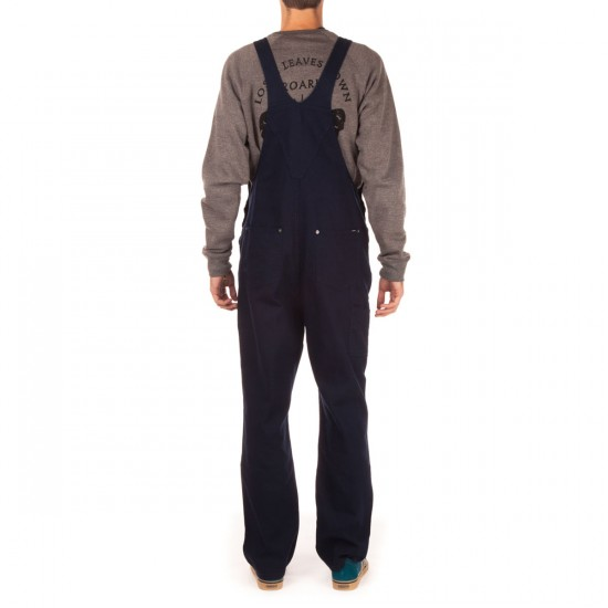 Brixton Fleet Relaxed Fit Overall Pants - Navy