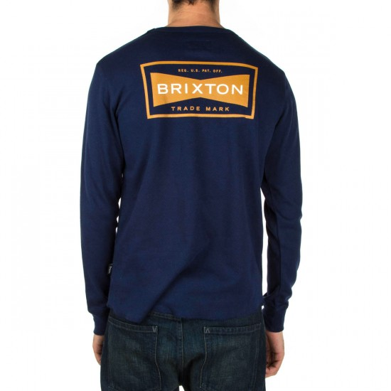 Brixton Fuel Long Sleeve Thermal Shirt - Navy