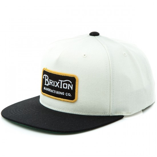 Brixton Grade Snapback Hat - Off White