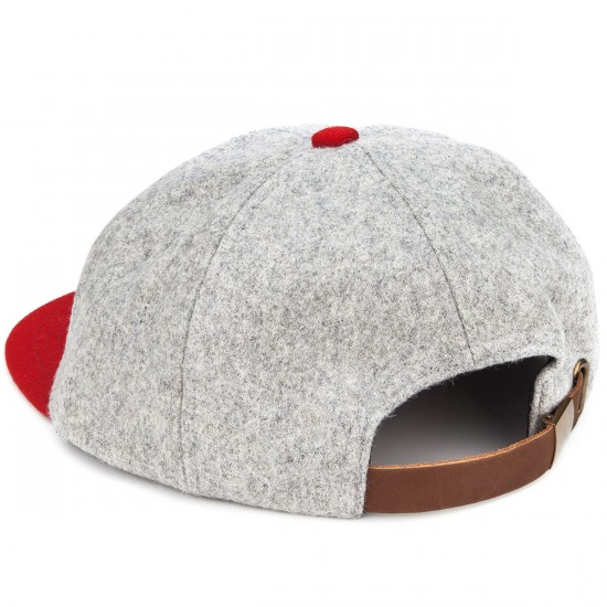 Brixton Hamilton Cap Hat - Heather Grey/Red