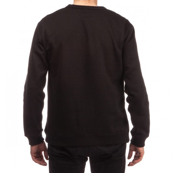 Brixton Hoover Crew Fleece Sweatshirt - Black