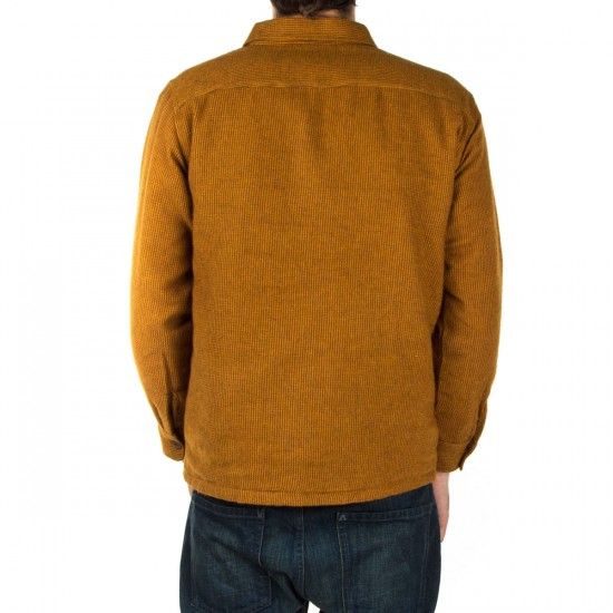 Brixton Lincoln Long Sleeve Flannel Shirt - Copper
