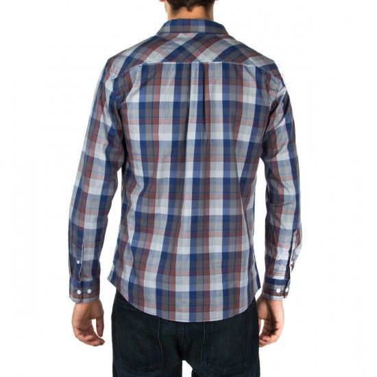 Brixton Memphis Long Sleeve Woven Shirt - Blue/White