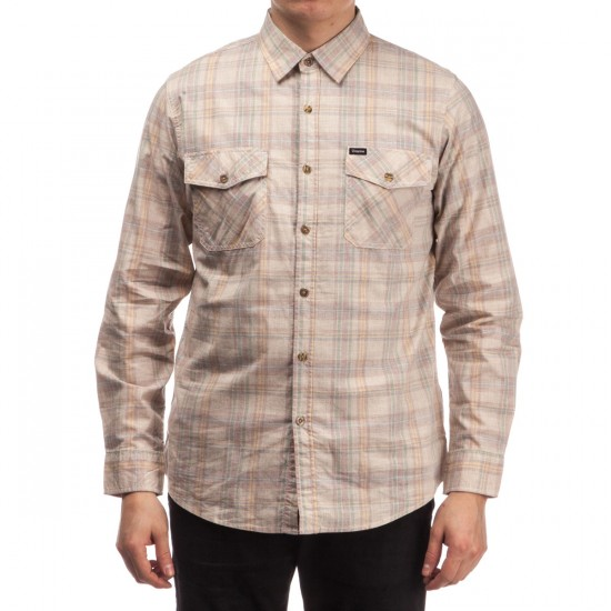 Brixton Memphis Long Sleeve Woven Shirt - Sand