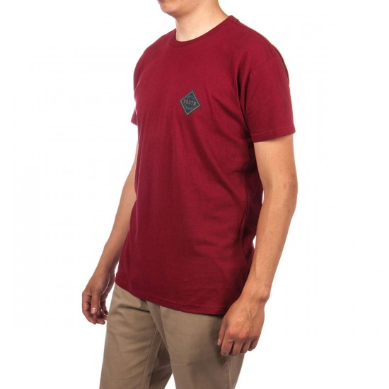 Brixton Morton T-Shirt - Burgundy