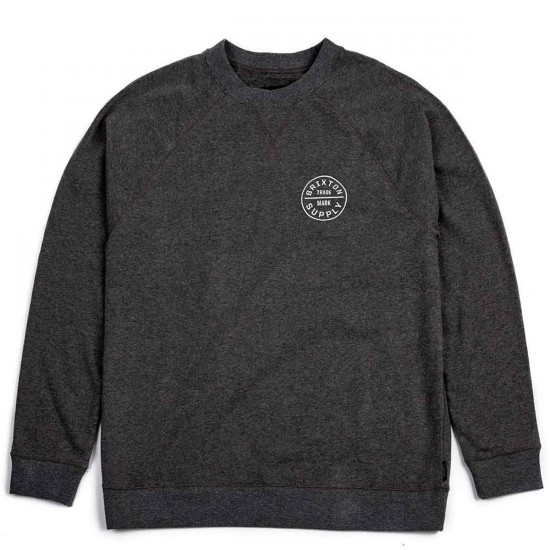 Brixton Oath Crew Sweatshirt - Heather Grey