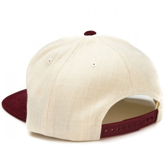 Brixton Oath III Snap Back Hat - Cream/Burgundy